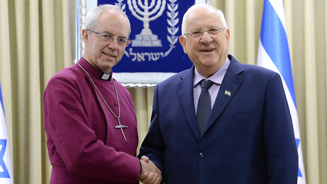 Rivlin meeting with the Archbishop of Canterbury (Photo: Mark Neiman/GPO)