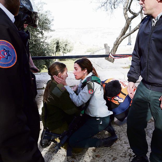 פיגוע דריסה בטיילת ארמון הנציב בירושלים בינואר. שליש מהנוער היהודי חש איום על ביטחונו האישי