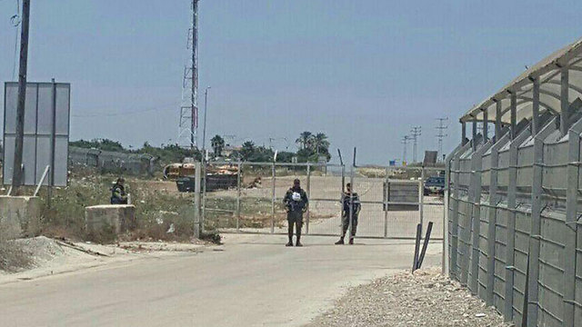 The court checkpoint (Photo: Israel Police)