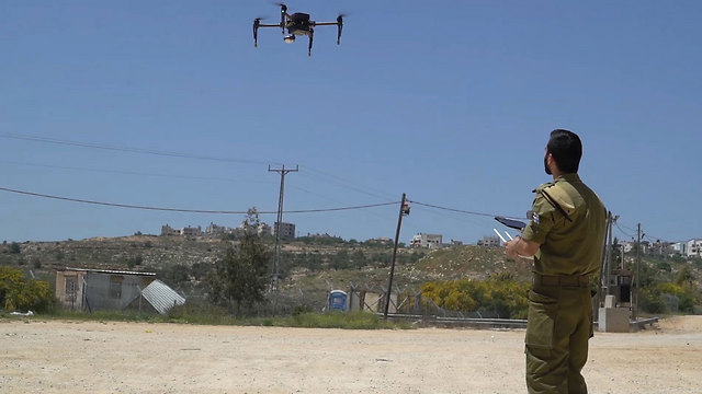 An IDF drone. The army will be tasked with drone defense near the borders and West Bank (Photo: IDF Spokesperson's Unit)