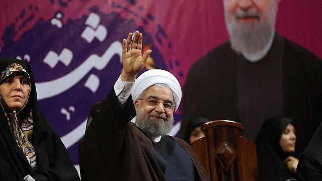הפייבוריט לנצח? נשיא איראן רוחאני (צילום: AP) (צילום: AP)