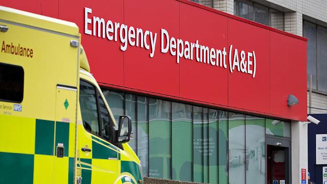 16 בתי חולים נפגעו. בית חולים בבריטניה (צילום: AFP)