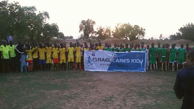 The Israeli embassy in Nigeria donated the money for the kids' soccer league