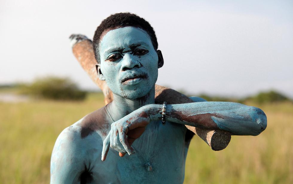 פסטיבל ציידים בגאנה (צילום: EPA)