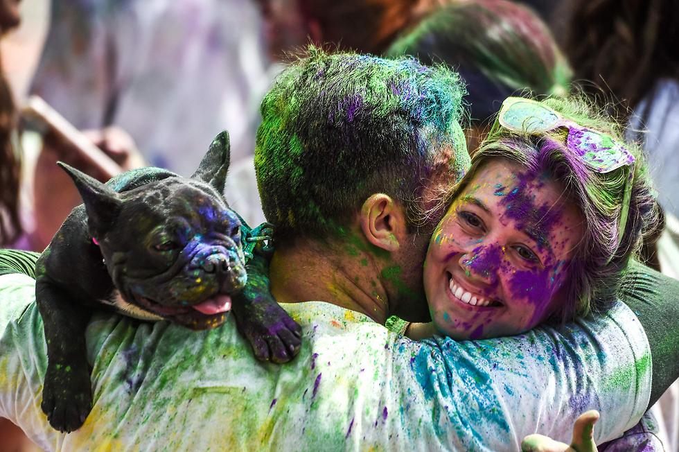 פסטיבל הצבע באיסטנבול, טורקיה (צילום: AFP)