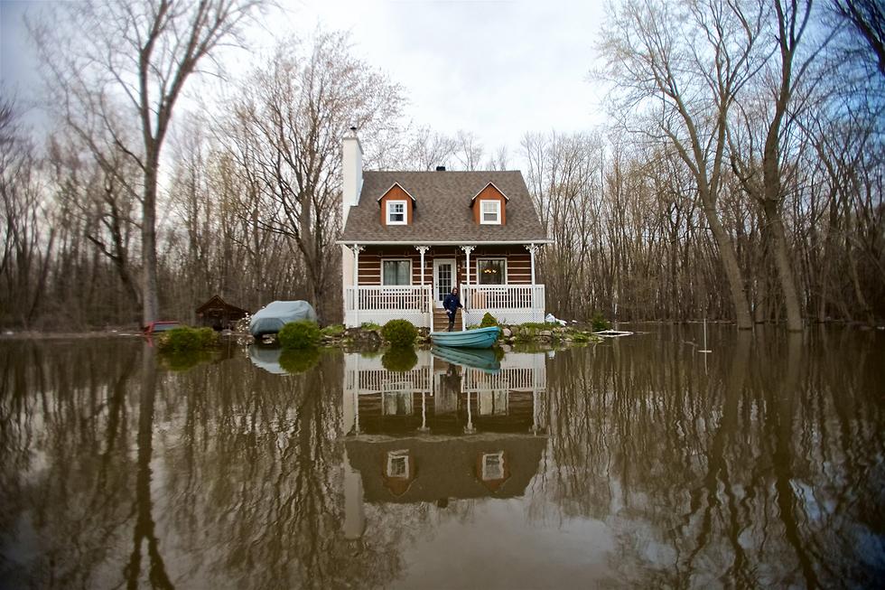 שיטפונות בקוויבק, קנדה (צילום: EPA)