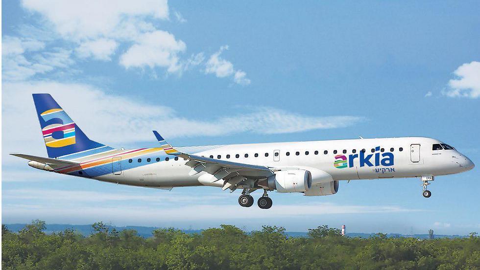 צבעים חדשים ולוגו חדש. מטוס ארקיע אחרי המיתוג החדש (צילום: הדמיה) (צילום: הדמיה)
