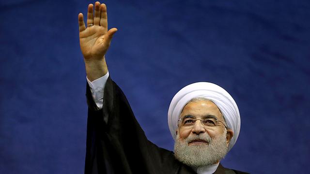 השיג הסכם גרעין, אבל הכלכלה עדיין מקרטעת. רוחאני (צילום: AP) (צילום: AP)