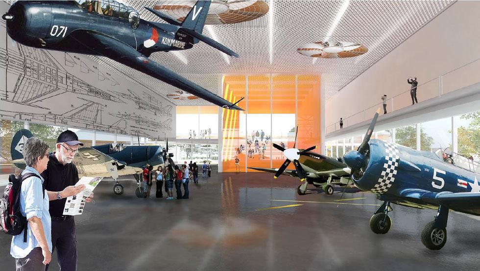 לא פחות חשוב: המוזיאון יהיה מקורה וממוזג (הדמיה: באדיבות משרד הביטחון)