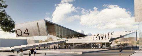 ההצעה של אדריכלית אירית אקסלרוד זכתה במקום השלישי (הדמיה: באדיבות משרד הביטחון)