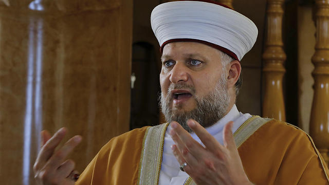 In this Friday, May 5, 2017 photo, Sheikh Mohammad Muwad speaks during an interview with the Associated Press inside the Hussein Mosque in the village of Dayait al-Arab near the southern port city of Sidon, Lebanon. (Photo: AP) (Photo: AP)