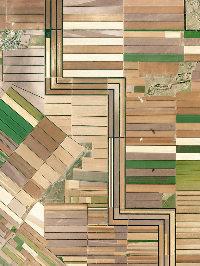 שדות ברוסיה (צילום: By Daily Overview, Satellite imagery © DigitalGlobe)