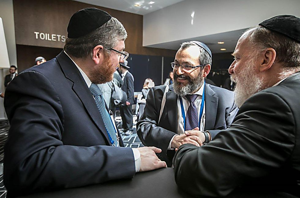 The rabbis of Frankfurt and Odessa (Photo: Eli Itkin)