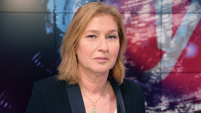 Livni at Ynet's studio (Photo: Eli Segal)