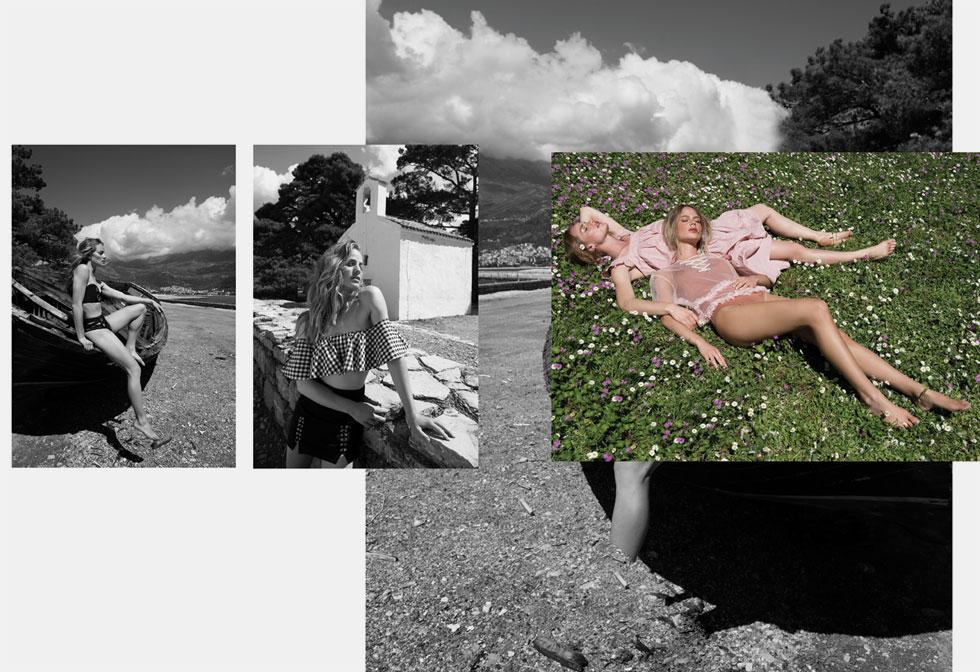 יערה: שמלה, קסטרו, 129 שקל; בר: בגד גוף, H&M, 160 שקל; חולצה, טופשופ, 160 שקל; יערה: טופ בגד ים, H&M, 99 שקל; חצאית, גליתה, 129 שקל; יערה: בגד ים, גליתה, 500 שקל (צילום: עידו לביא, סטיילינג: ראובן כהן)