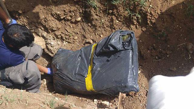 The uncovered body (Photo: Police Spokesperso)