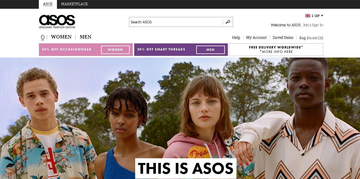 (צילום מסך של אתר ASOS) (צילום מסך של אתר ASOS)