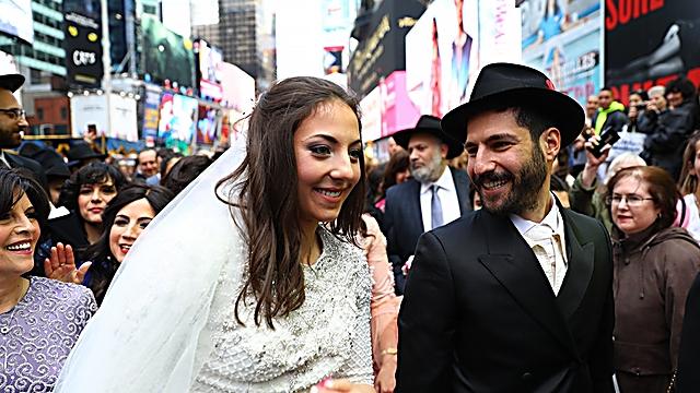 The happy couple (Photo: Shimi Kutner, COL live)