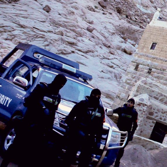 זירת הפיגוע במנזר סנטה קתרינה בחודש שעבר | צילומים: צור שיזף