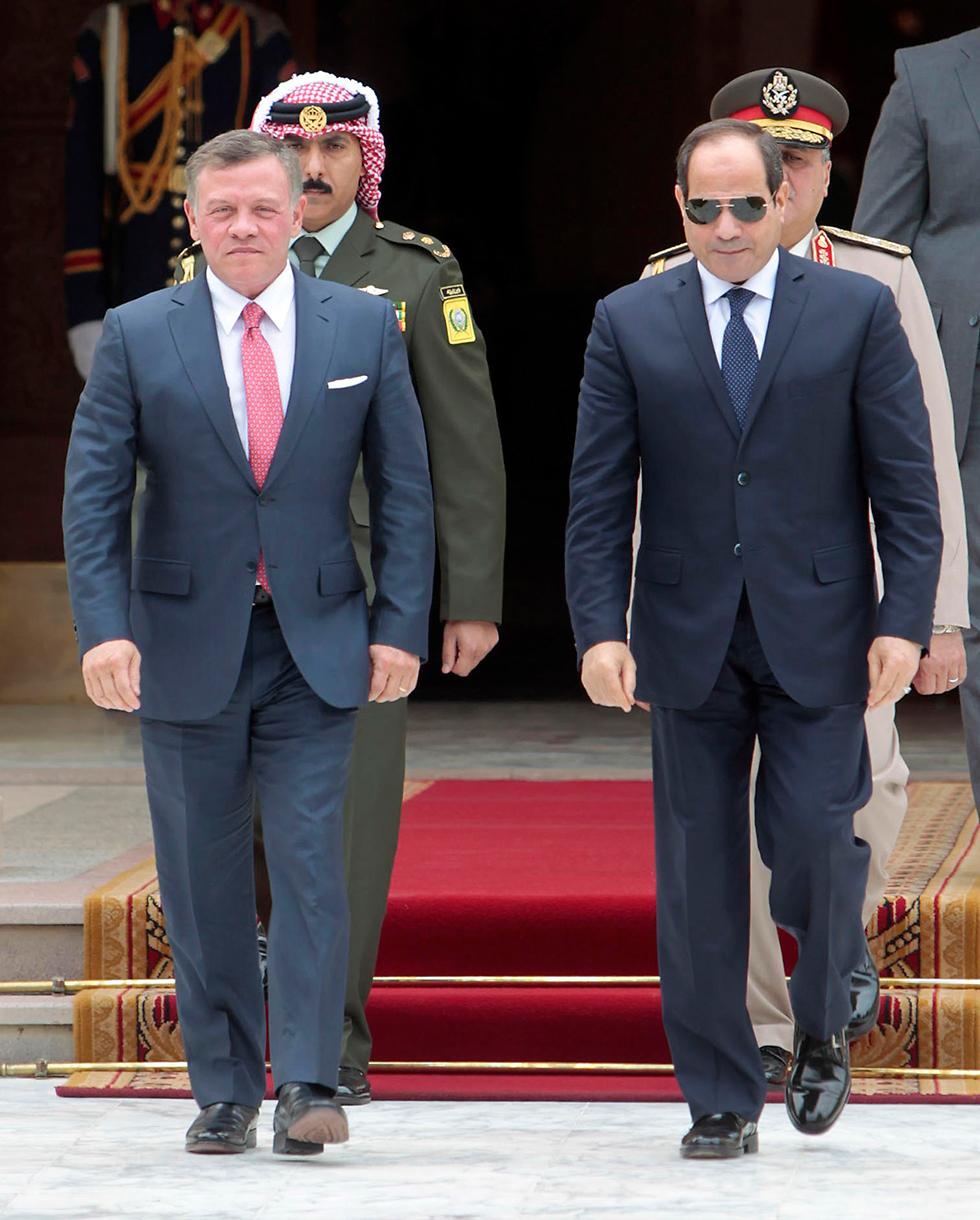 Ас-Сиси и Абдалла Второй. Фото: AFP