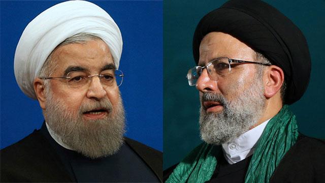 המועמדים המובילים, ראיסי ורוחאני. ייתכן סיבוב שני (צילום: AP)