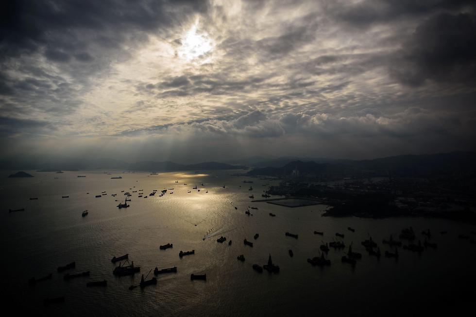 אוניות בהונג קונג (צילום: AFP)