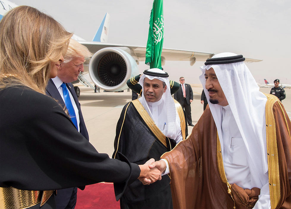 The Trumps are greeted in Saudi Arabia (Photo: Reuters)