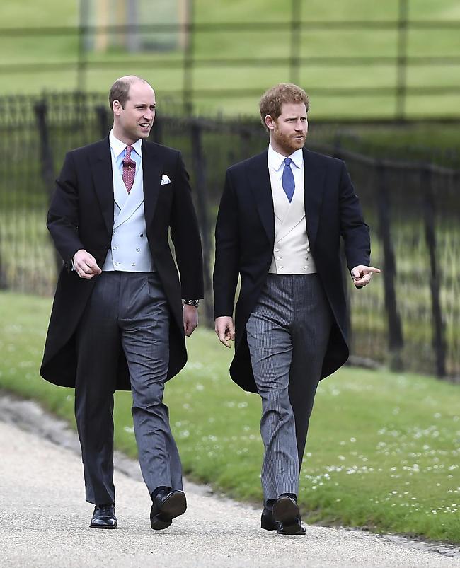 נסיכים שהם אחים. הנסיך הארי והנסיך וויליאם (צילום: איי-פי)