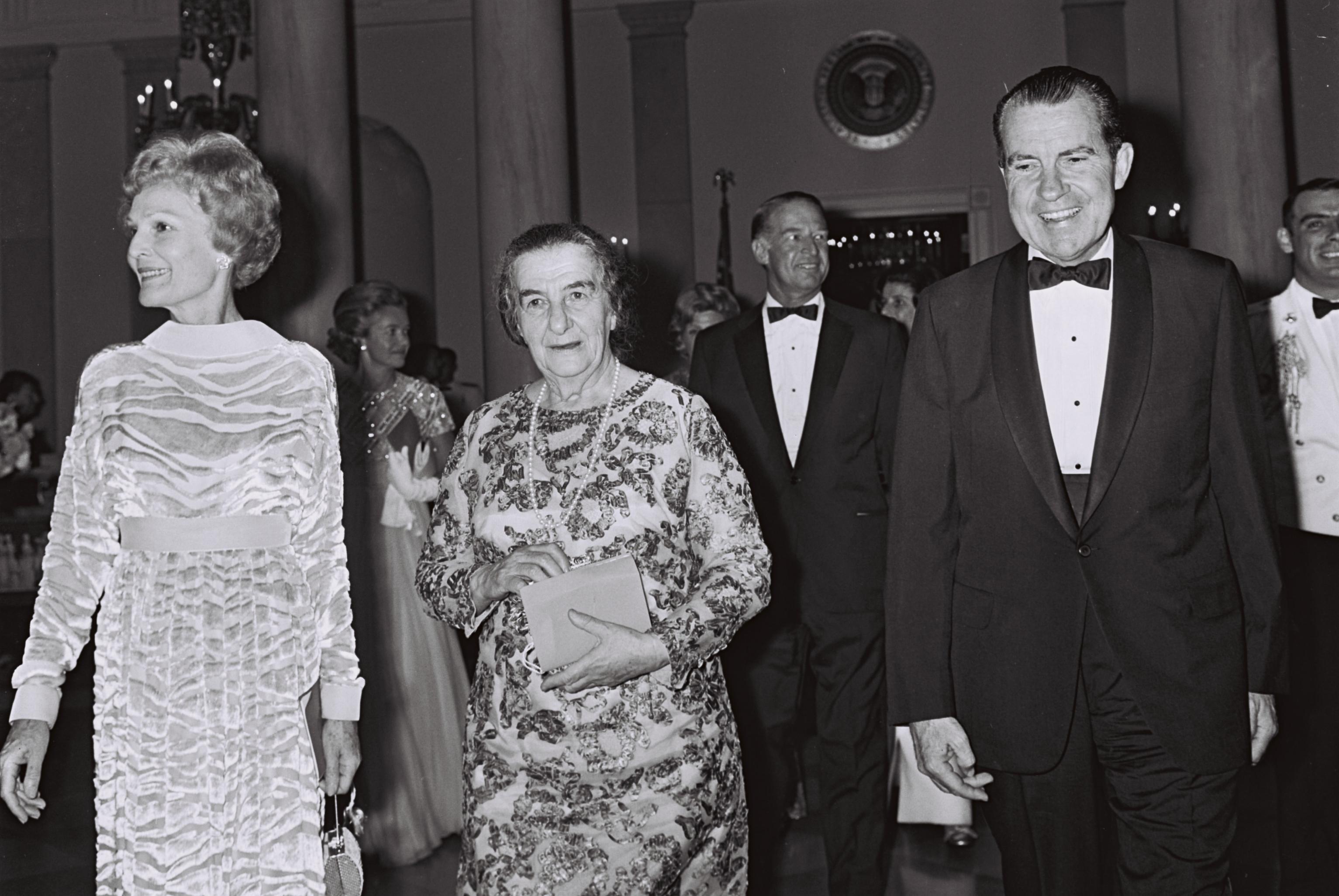 Голда с четой Никсон, 1969 г. Фото: Milner Moshe, пресс-бюро правительства