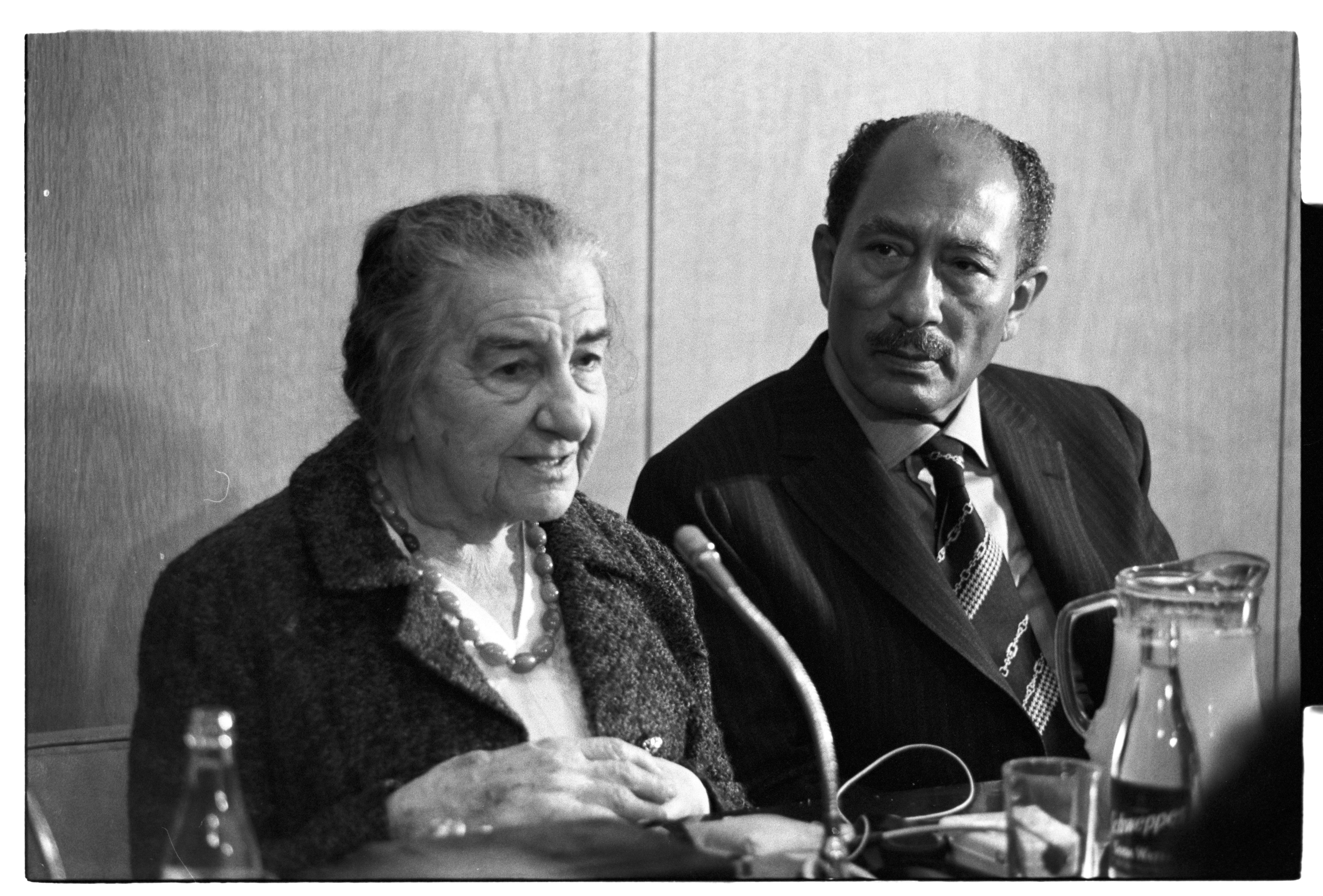 Голда и Анвар Садат. Фото: Давид Рубингер