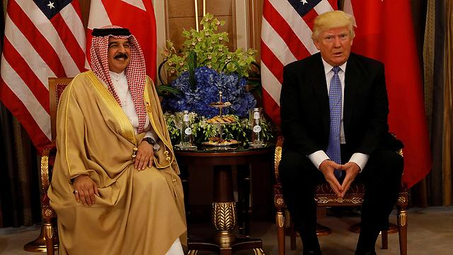 President Donald Trump and Prince Khalifa bin Salman Al Khalifa of Bahrain (Photo: Reuters)
