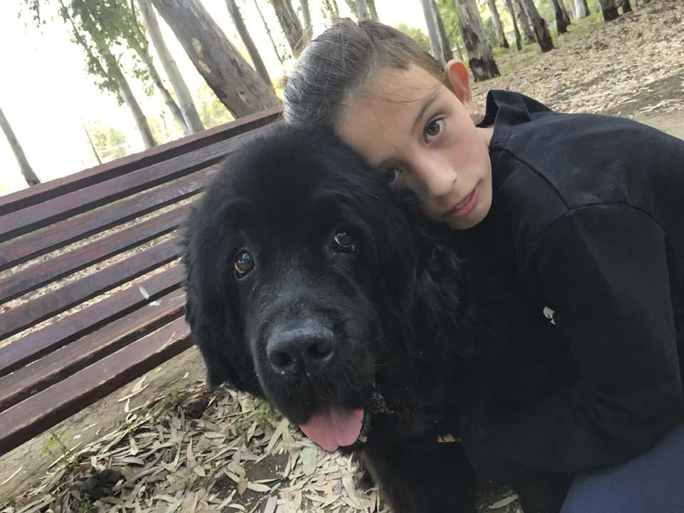 Соня с любимой собакой