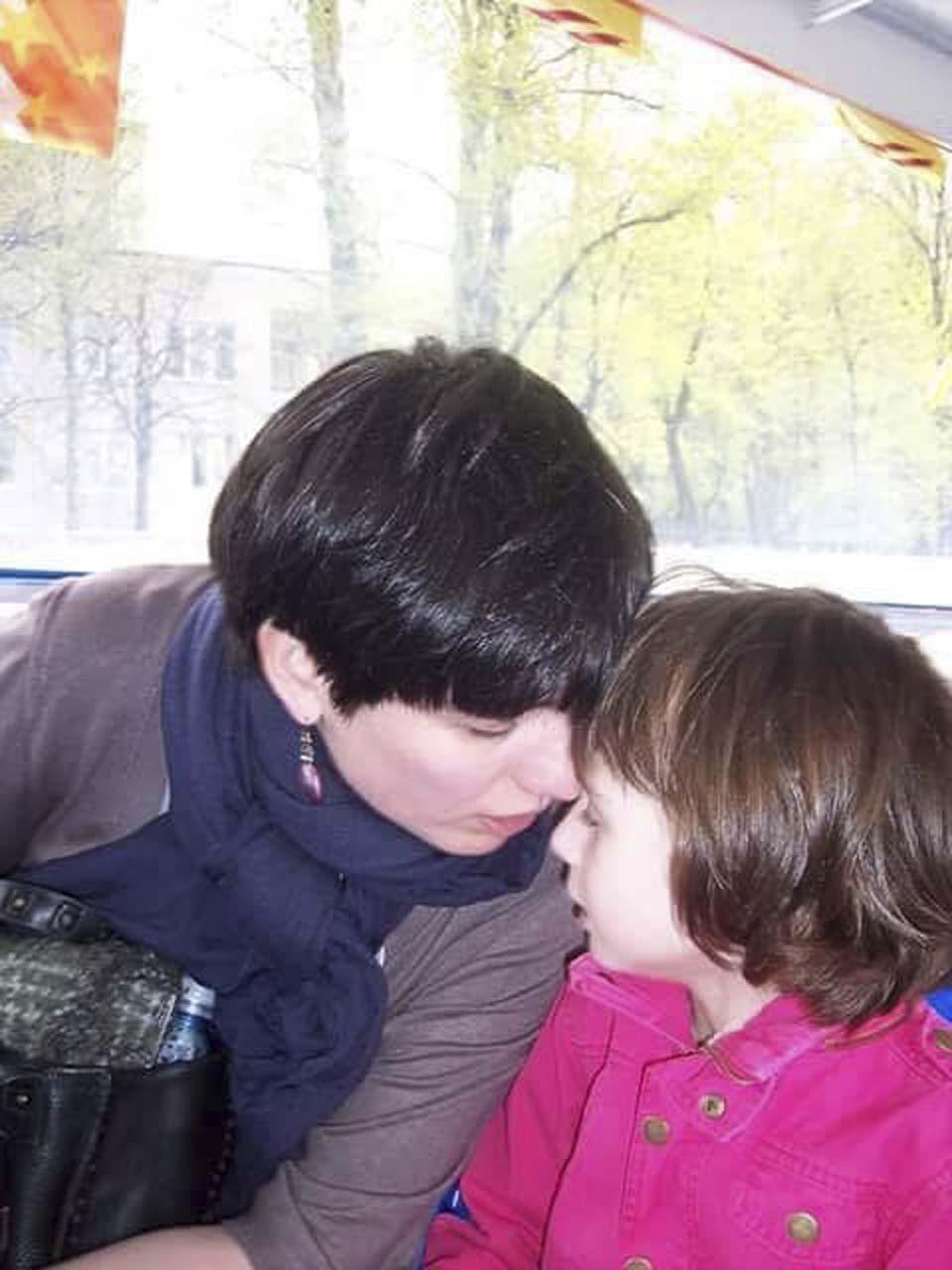 Евгения Шустикова с дочерью Соней
