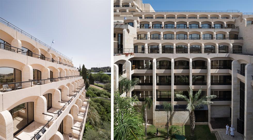מלון ''היאט'' (כיום ''דן ירושלים'') היה פרויקט ראווה עתיר כספים, שנכשל כלכלית אך ניסה להתחשב בקו הנוף. כאן נרצח רחבעם זאבי (צילום: ליאור גרונדמן)