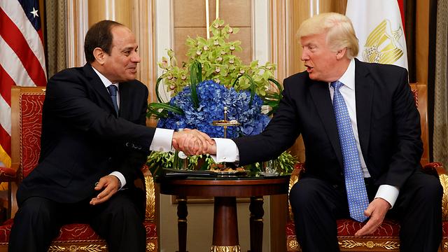 Donald Trump and his Egyptian counterpart Abdel Fattah al-Sisi  (Photo: AP)