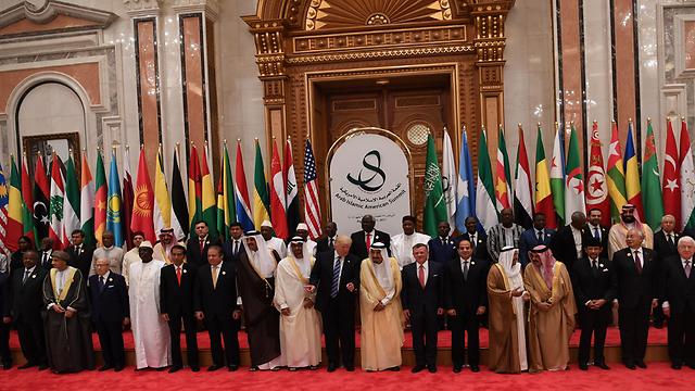 טראמפ ומנהיגי האזור בביקור בסעודיה (צילום: GETTY IMAGES)