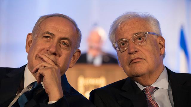 PM Netanyahu with David Friedman (Photo: EPA)