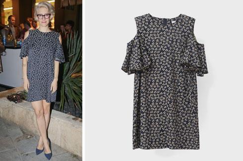 דפנה לוסטיג לובשת שמלה מתוקה של המותג GANNI לבוטיק ורנר (1,149 שקל) (צילום: שוקה כהן)
