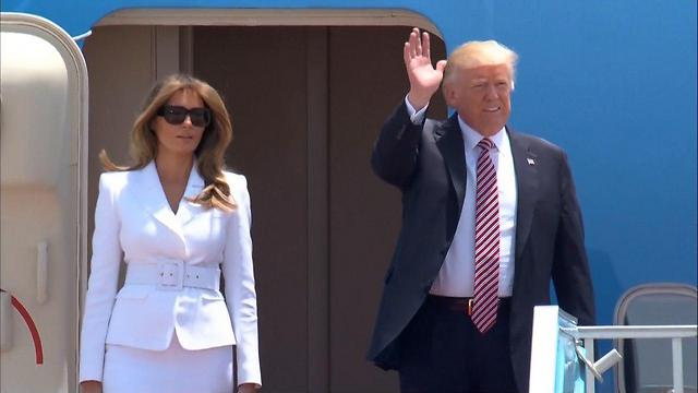 President Trump and First Lady Melania arrive in Israel (Photo: GPO)