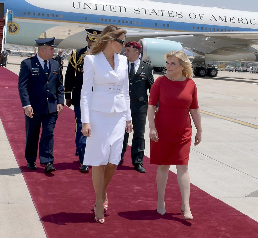 Мелания Трамп и Сара Нетаниягу. Фото: Ави Охайон, ЛААМ (Photo: Avi Ohayon/GPO)