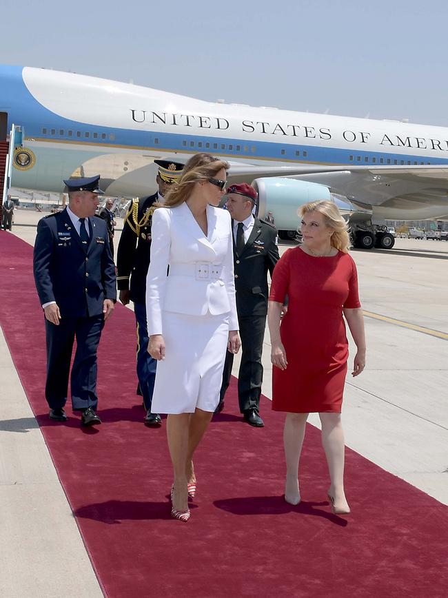Сара Нетаниягу и Мелания Трамп. Фото: Ави Охайон, ЛААМ