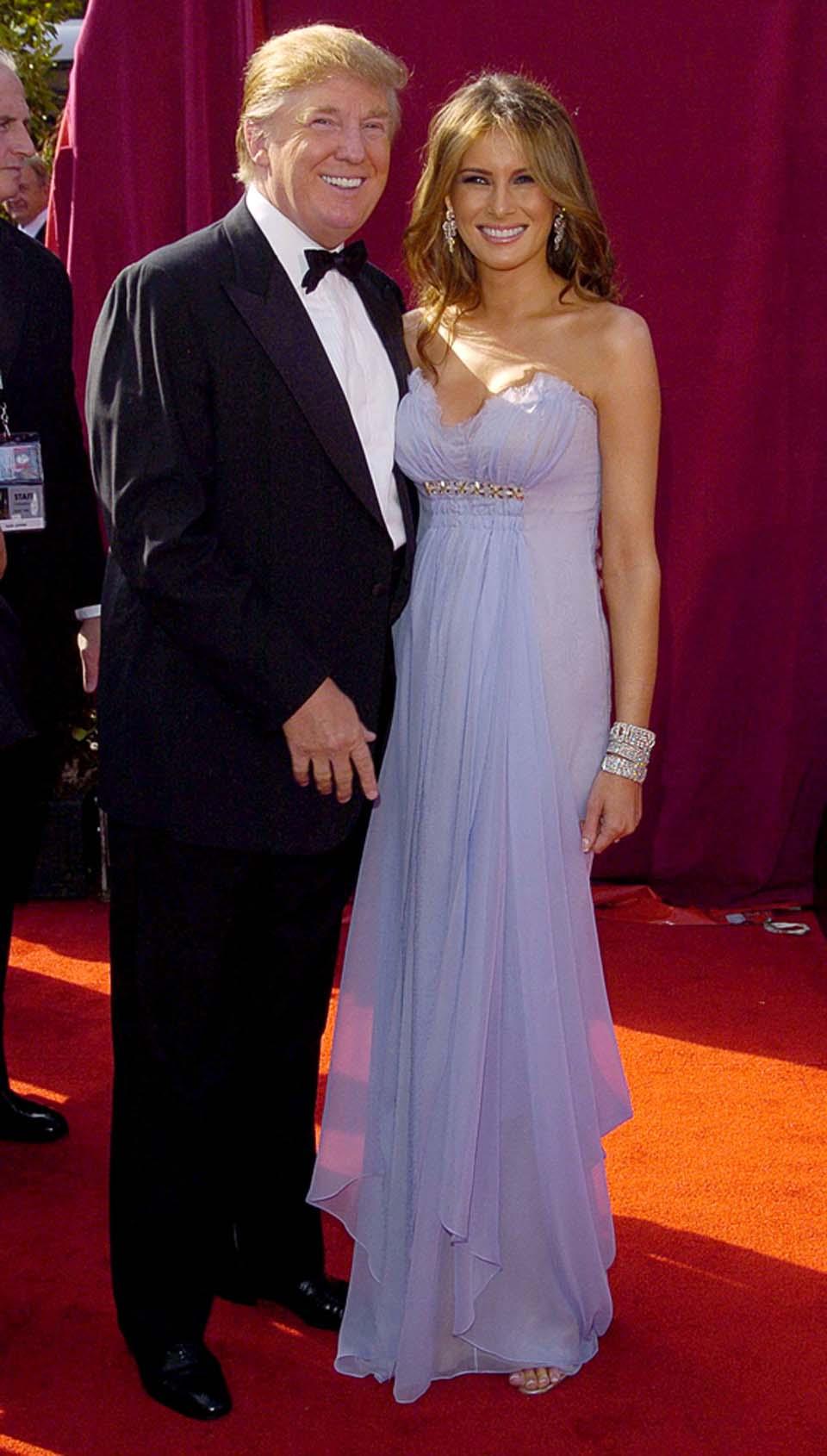 Мелания и Дональд Трамп на вручении премии ЭММИ, 2005. Фото: Shutterstock
