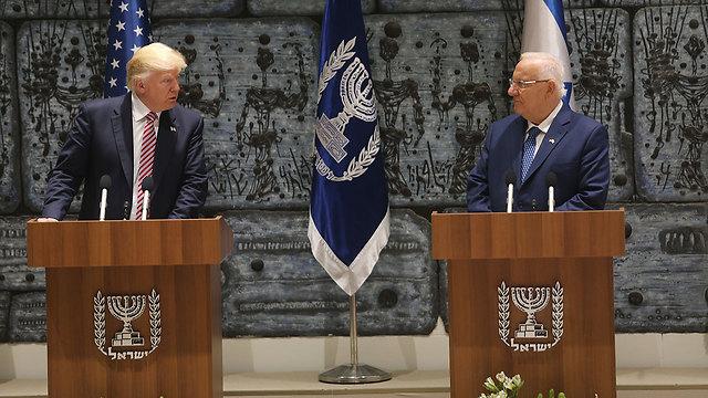 Trump and Rivlin at the Presidence's Residence (Photo: Alex Kolomoisky)