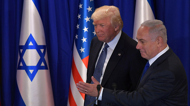 Trump and Netanyahu. The most interesting thing in the American president's speeches was that he did not mention the two-state principle (Photo: AFP)