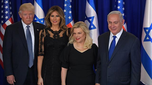 בני הזוג נתניהו ובני הזוג טראמפ (צילום: AFP) (צילום: AFP)