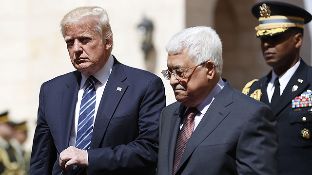 Trump and Abbas in Bethlehem. A ridiculously short visit     (Photo: AFP)