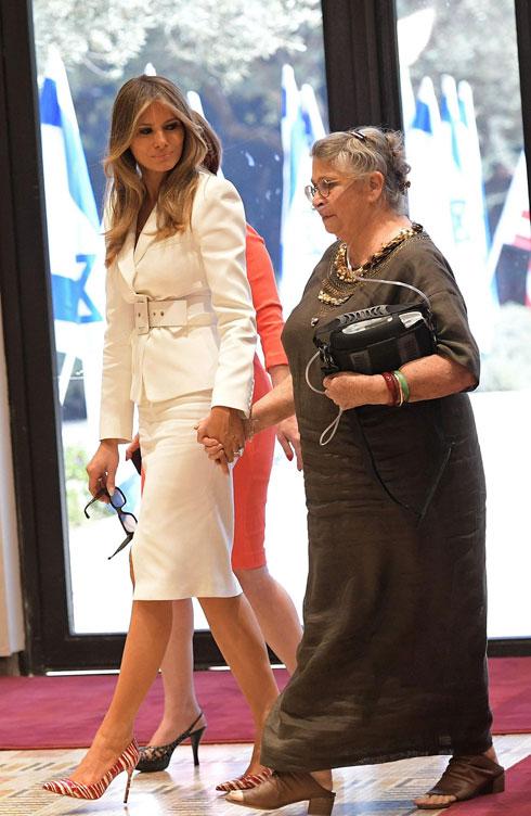 ומה לבשו איוונקה טראמפ, שרה נתניהו ונחמה ריבלין? לחצו על התמונה לכל הפרטים (צילום: AFP)