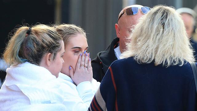 סמוך לזירת הפיגוע היום במנצ'סטר (צילום: AP) (צילום: AP)