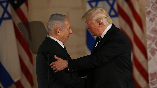 Netanyahu and Trump during the US president's visit to Israel (Photo: Alex Kolomoisky)