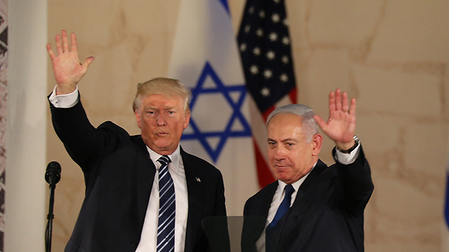 Trump and Netanyahu during the US president's visit to Israel (Photo: Alex Kolomoisky)